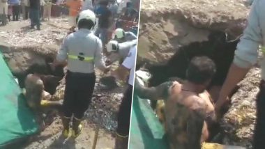 Mumbai: One Rescued, Two Stuck Inside Septic Tank After Trucks Hits Slab at MHADA Colony in Chembur, Rescue Operation Underway