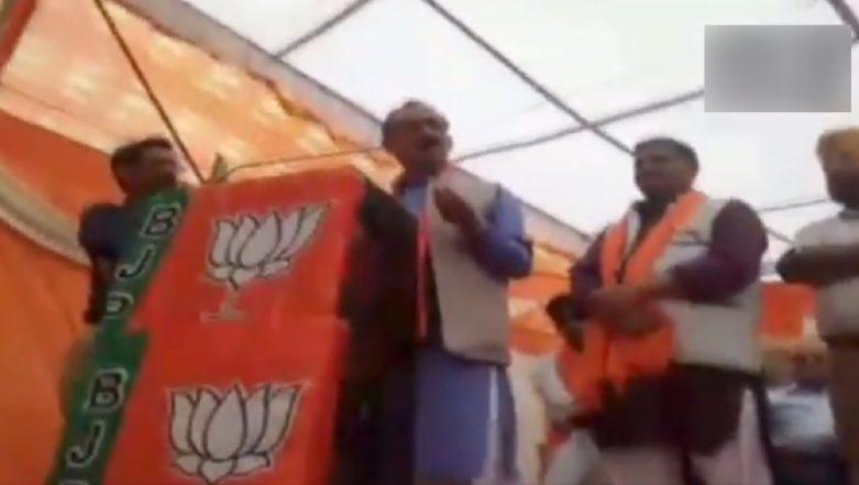 Himachal Pradesh BJP Chief Satpal Singh Satti Uses Cuss Words For Rahul Gandhi, Says People on Social Media Call Him M*******D; Watch Video