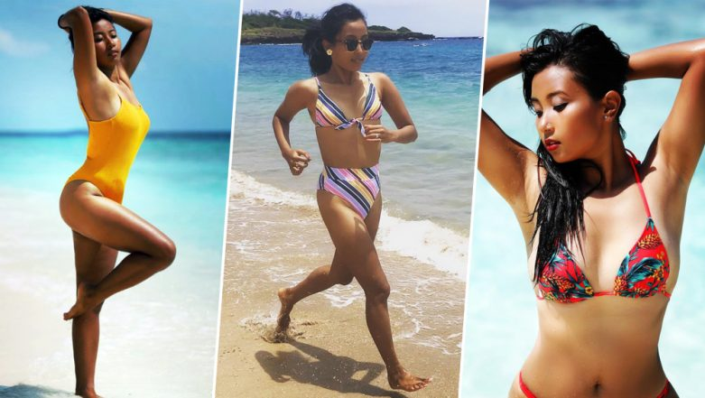 Milind Soman's Wife, Ankita Konwar is Setting the Internet on Fire with Her Beachwear Pictures