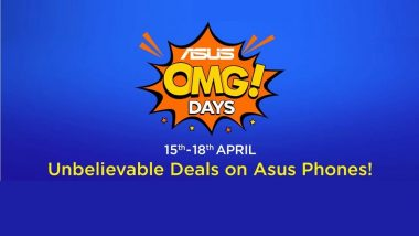 Asus OMG Days Sale on Flipkart: Get Up To Rs 3000 Discount on Asus Zenfone 5Z, Zenfone Max Pro M1, Zenfone Max M2 & Lite L1