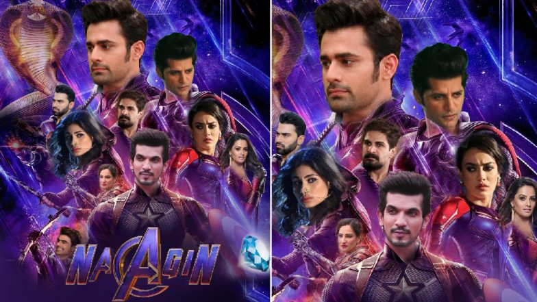 Avengers Endgame Fever Strikes Naagin Cast: Arjun Bijlani Becomes Captain America, Mouni Roy Features As Black Widow in This Character Poster, View Pic