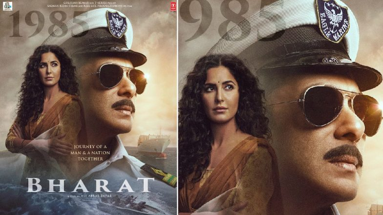 Bharat New Poster: Salman Khan Looks Dapper As Naval Officer and Katrina Kaif's '80s Look Is Winning Hearts – View Pic