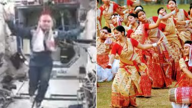 Bihu Celebrations in Space! Old Video of NASA Astronaut Doing Traditional Folk Dance Goes Viral on Assamese New Year 2019