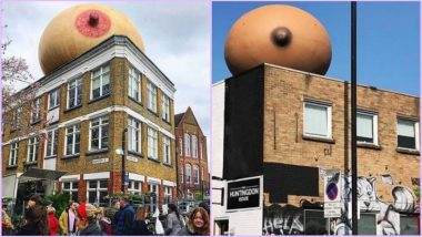 Giant Inflatable Boobs Appear All Over London to Promote Public Breastfeeding (View Pics)