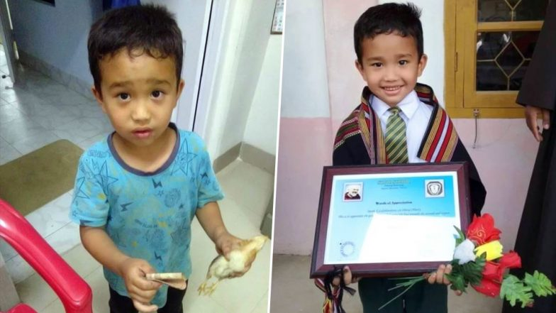 Mizoram Boy, Derek C Lachhanhima Receives Award for Taking Chicken to Hospital With All the Money He Had, After Mistakenly Running Over the Bird (View Pic)