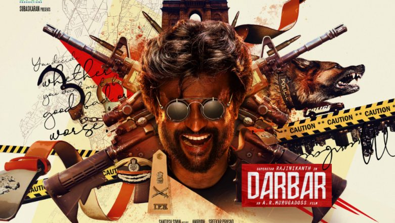 Darbar First Look Out! Rajinikanth's Next with AR Murugadoss Is a Cop Film Set in Mumbai – See Pic