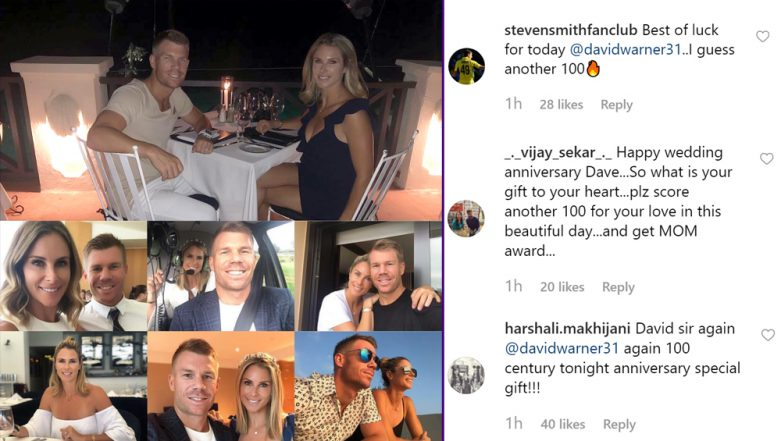 It's David and Candice Warner's 4th Marriage Anniversary, and Fans Want Aussie Batsman to Hit a Hundred in DC vs SRH IPL 2019 Match on the Special Day