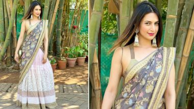 Divyanka Tripathi Dahiya's Pastel Pink Lehenga Is Just Perfect for Summer Weddings! (View Pic)
