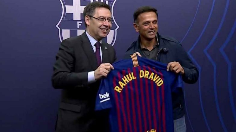 Rahul Dravid Mesmerized by Lionel Messi Magic at Camp Nou As Barcelona Defeat Atletico Madrid 2–0 in La Liga 2018–19, Watch Video