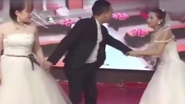 Chinese Woman Gatecrashes Ex's Wedding Dressed as a Bride, Begs For Forgiveness (Watch Dramatic Video)