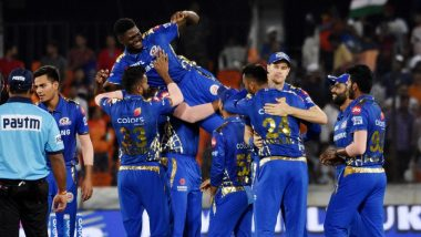MI vs CSK IPL 2019 Final Stat Highlights: Mumbai Indians Lift IPL Trophy for Record 4th Time, Beat Chennai Super Kings by 1 Run