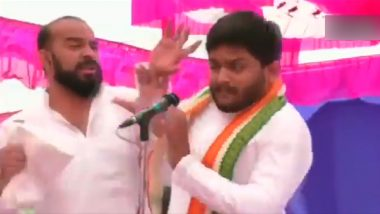 Hardik Patel Slapped at Jan Akrosh Rally in Gujarat While Campaigning for Lok Sabha Elections 2019; Watch Video