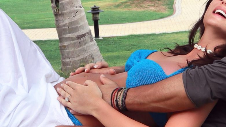 Amy Jackson is Flaunting her Baby Bump in This New Adorable Click with Beau George Panayiotou - View Pic
