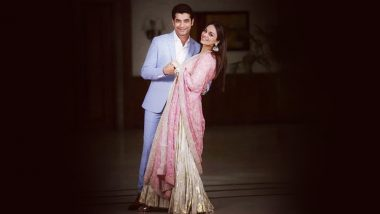 Ssharad Malhotra and Ripci Bhatia Make for a Picture-Perfect Couple in This Click From Their Roka Ceremony