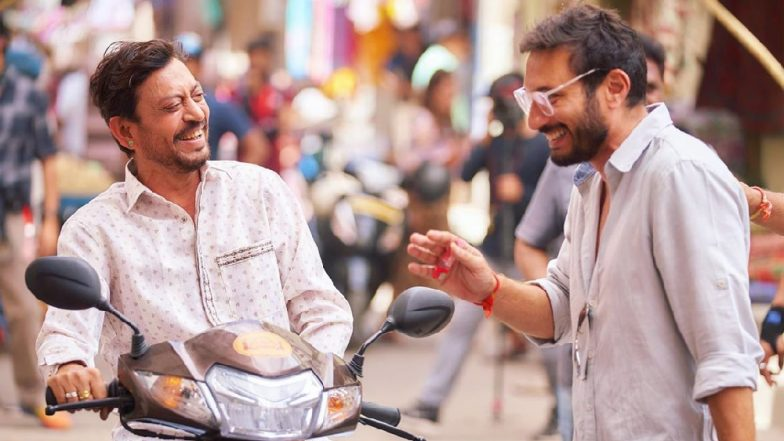 Angrezi Medium: Irrfan Khan is All Smiles in This New BTS Picture Along with Director Homi Adajania