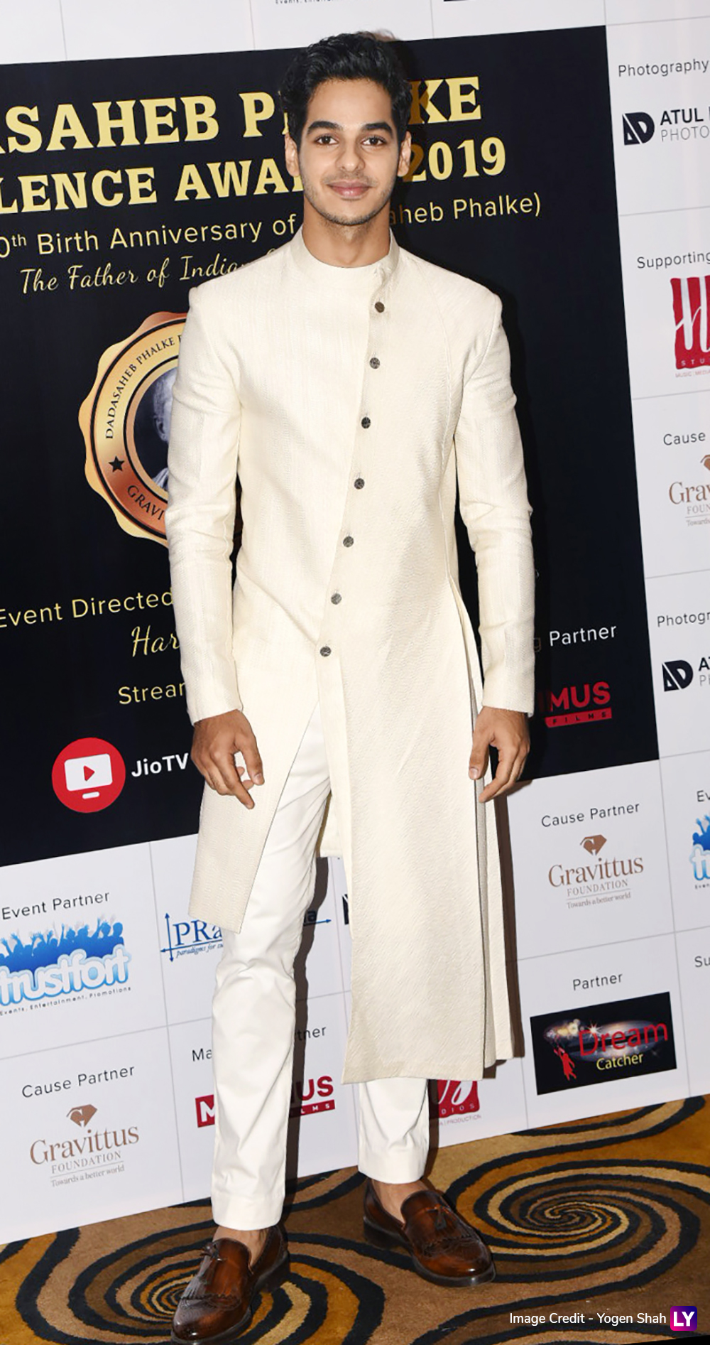 Ishaan Khatter looking dapper at the ceremony.