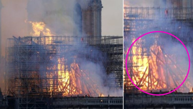Jesus Christ Spotted in Flames of Notre Dame Cathedral? Woman Claims to See 'God's Son' in Viral Pic