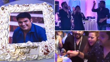 Kapil Sharma Turns 38, Celebrates His 1st Birthday After Marriage With Mother, Wife Ginni Chatrath and Mika Singh – Watch Videos