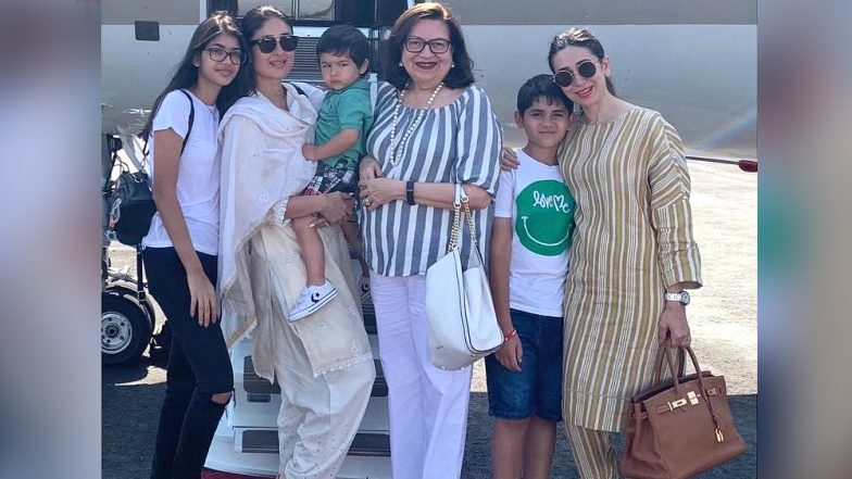 Kareena Kapoor Khan, Karisma Kapoor Ring in Mother Babita's Birthday With a Vacation, Pose Together with Kids Taimur, Kiaan and Sameira   - View Pic