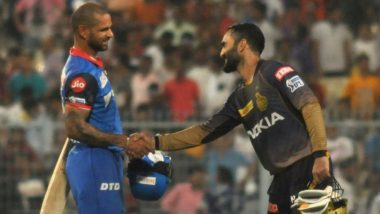 KKR vs DC Stat Highlights IPL 2019: Shikhar Dhawan's Unbeaten 97 Guides Delhi Capitals to Impressive Win Over Kolkata Knight Riders
