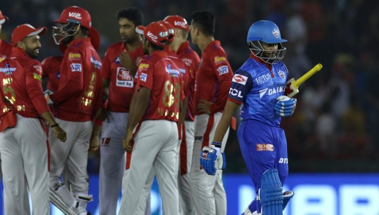 KXIP vs DC Stat Highlights: Kings XI Punjab Bowlers Led the Team to 14 Run Victory against Delhi Capitals