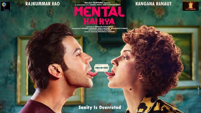 Mental Hai Kya: Kangana Ranaut and Rajkummar Rao Starrer Gets a Quirky New Poster, Movie to Release on June 21