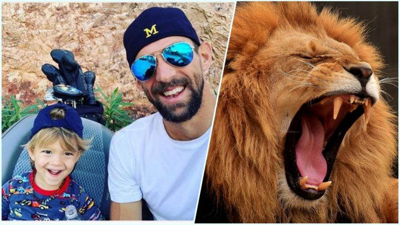 Michael Phelps Teaches His Kid 'Lion's Breath' or Simhasana for Mental Wellness