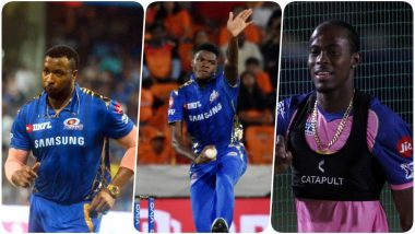 MI vs RR, IPL 2019 Match 27, Key Players: Andre Russell to Kieron Pollard to Alzarri Joseph, These Cricketers Are to Watch Out for at Wankhede Stadium
