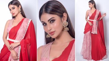 Mouni Roy Looks Resplendent in Red Saree and Fans Can't Stop Gushing Over Her Stunning Look - View Pics