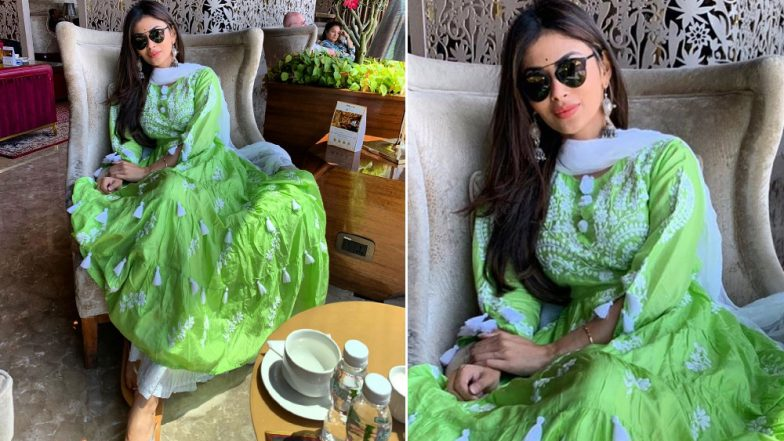 Mouni Roy Stuns in a Green Kurti and a Flouncy Palazzo Giving Us Summer Fashion Goals (View Pics)