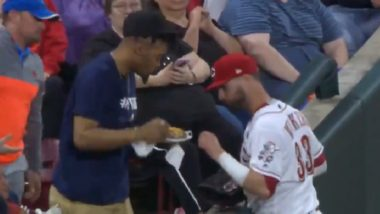 Plate of Nachos Distracted Baseball Player Jesse Winker During Sixth Inning of Braves-Reds Game (Watch Video)