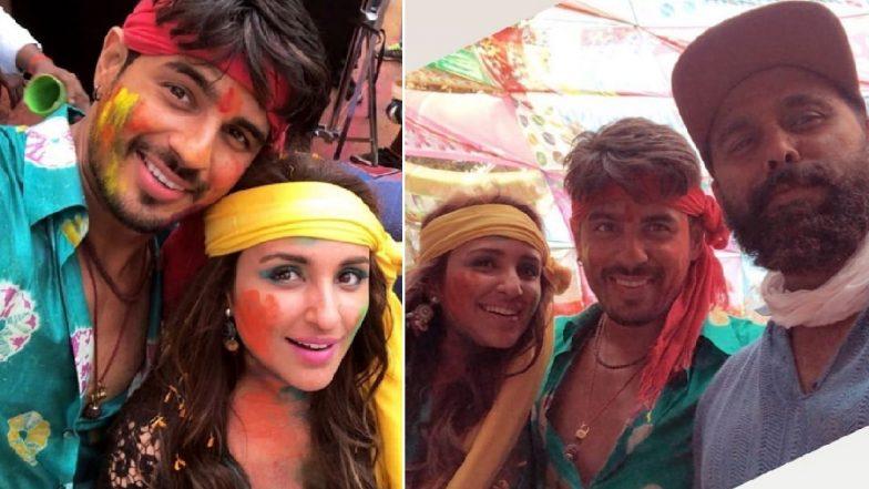 Sidharth Malhotra and Parineeti Chopra's 'Jabariya Jodi' Shoot Wrap Up Looks Like One Big Holi Bash (Watch Video)