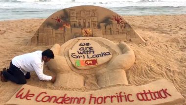 Sri Lanka Blasts: Sudarsan Pattnaik Creates Sand Art As Tribute to the Victims of Easter Sunday Bombing (View Pic)