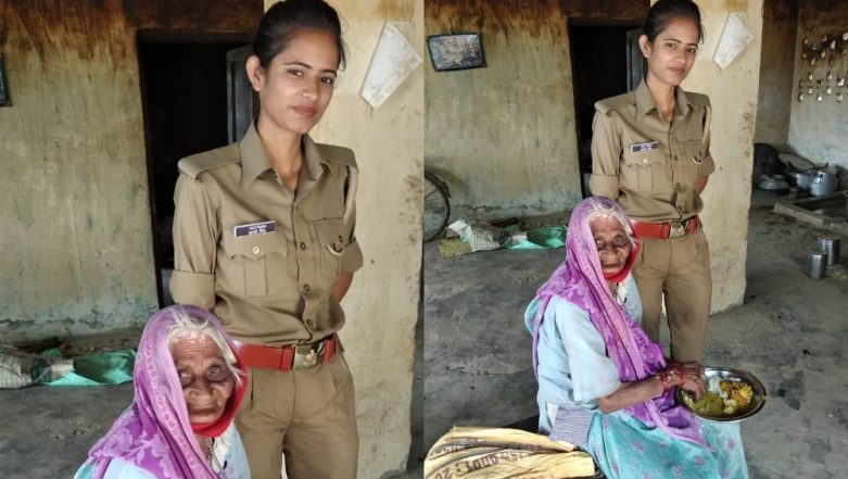 Uttar Pradesh Police Constable Comforts And Feeds Old Destitute Woman, Receives Letter From DGP Praising Her Deeds