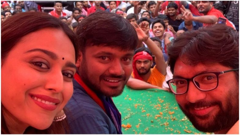 Swara Bhasker Gives Her First Political Speech As She Campaigns Hard for CPI Candidate Kanhaiya Kumar in Begusarai – Watch Video