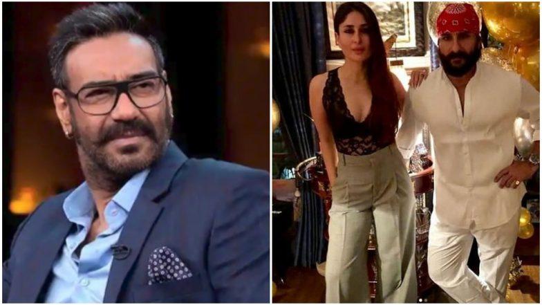 De De Pyaar De: Ajay Devgn's Comment on the Age-Gap Between Saif Ali Khan and Kareena Kapoor Khan Gets a Thumbs Up from the Latter