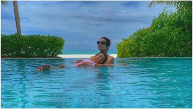 Aishwarya Rai Bachchan and Daughter Aaradhya Ditch the Ocean and Prefer a Dip in the Pool Instead - View Pic