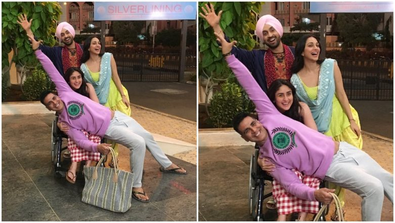 Diljit Dosanjh Shares a Happy Picture with Akshay Kumar and Kiara Advani from the Sets of Good News But Why is Kareena Kapoor Khan on a Wheelchair?