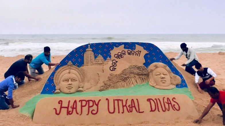 Utkal Diwas 2019: Sudarsan Pattnaik Wishes Odisha Day With a Sand Art representing the State's Culture