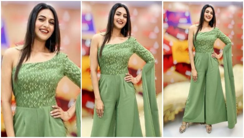 Divyanka Tripathi Dahiya's Olive Jumpsuit Will Make You Want to Give Your Dresses a Break – View Pic