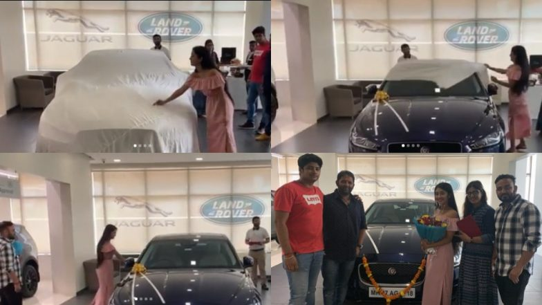 Yeh Rishta Kya Kehlata Hai Actress Shivangi Joshi Is Now a Proud Owner of Navy Blue Jaguar Car – View Pics
