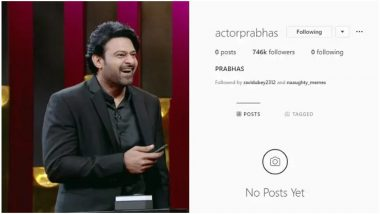Baahubali Star Prabhas Finally Joins Instagram, Gets Over 7 Lakh Followers Within Hours - View Pic