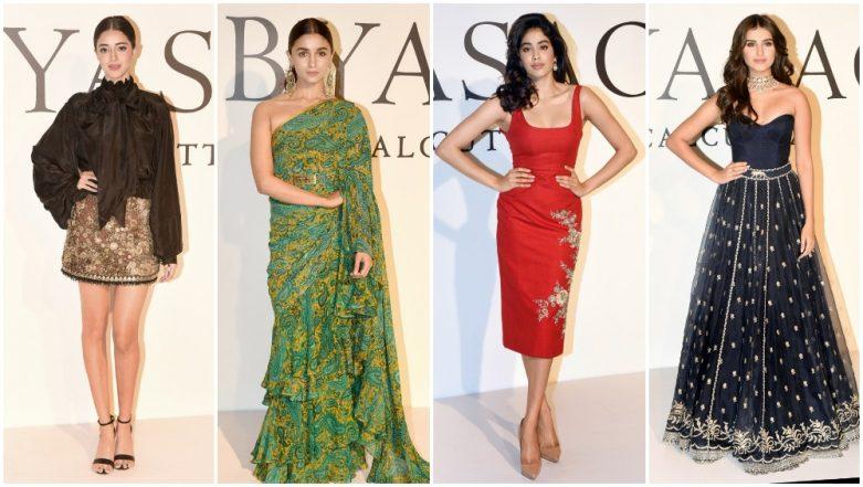 20 Years of Sabyasachi Mukherjee: Alia Bhatt, Janhvi Kapoor, Ananya Panday and Others Join the Designer's Celebration - View Pics