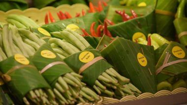 Thailand Supermarket Packs Food in Banana Leaves Instead of Plastic, Twitterati Impressed! (View Pics)