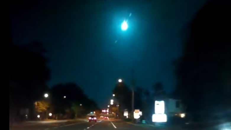 Stunning Green-Coloured Meteor Flash Brightens Up Florida Night Skies, Video Goes Viral