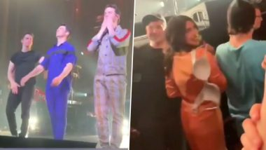 Priyanka Chopra Is Happy to Pass Along a Fan's 'Bra' After She Throws It at Nick Jonas During His Recent Concert (Watch Video)