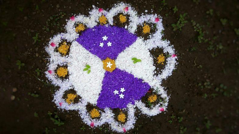 Easy Gudi Padwa 2019 Rangoli Design Images: Simple Ugadi Kolam Rangoli Patterns to Celebrate Marathi New Year (Watch Video Tutorials)