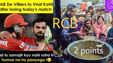 Funny RCB Memes Trolling Virat Kohli & Co. Don't Stop! Hilarious Tweets & Jokes Go Viral Following RCB's 6th Consecutive Defeat in IPL 2019