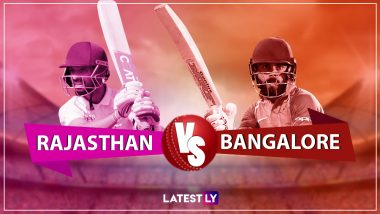 RR 164/3 in 19.5 Overs|RCB 158/4 in 20 Overs| RR vs RCB, Live Cricket Score of IPL 2019 Match: Rajasthan Royals Register Seven Wicket Victory Against Royal Challengers Bangalore