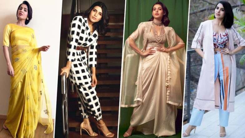 Samantha Ruth Prabhu Birthday Special: With Ravishing Fashion Choices and a Charming Demeanour, She is our Ultimate Favourite Fashionista (View Pics)